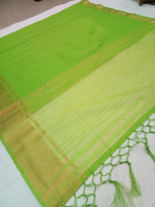 Lady Regular Pretty Popti  Cotton Silk Woven Saree