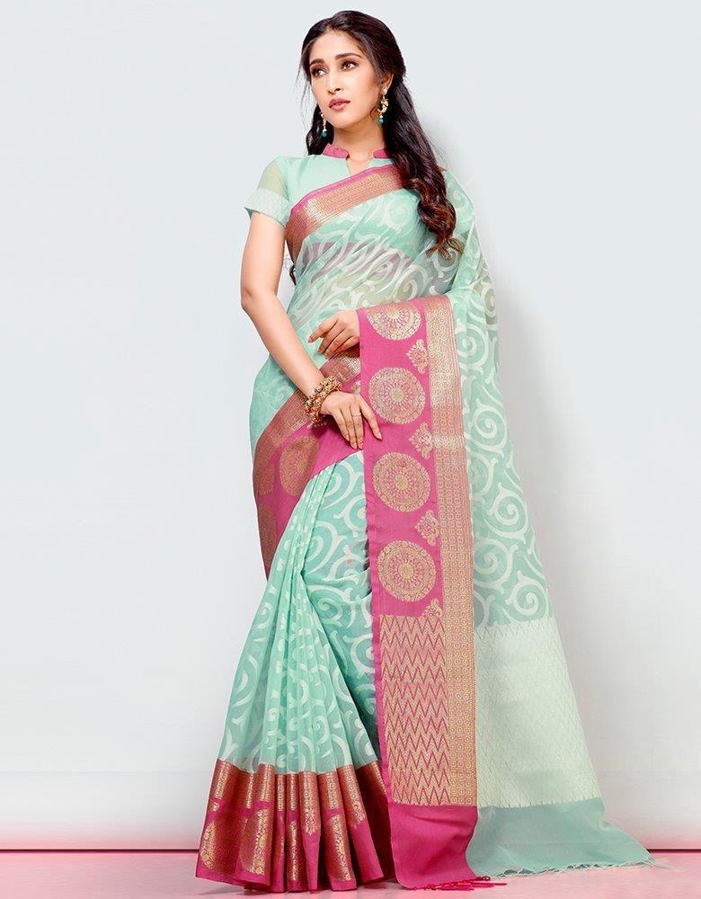 cotton blend saree