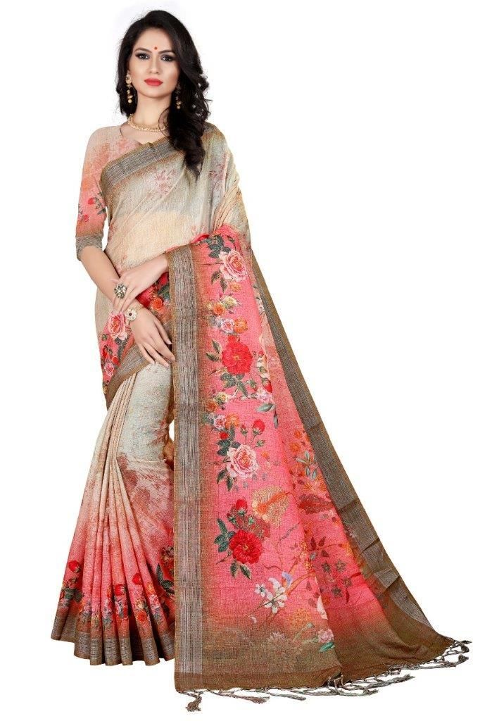 cotton blend saree