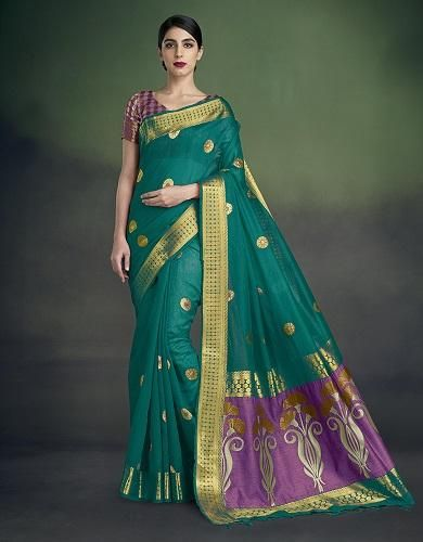zari cotton saree