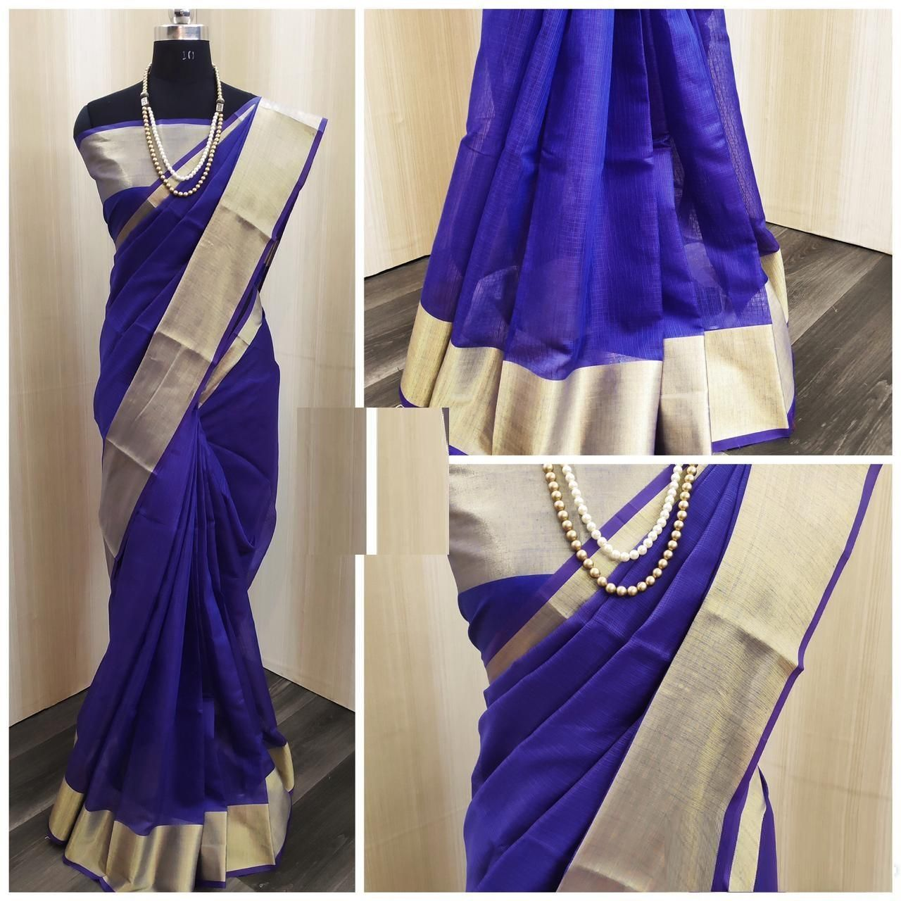 Chanderi Royal Satin Silk Printed Regular Saree