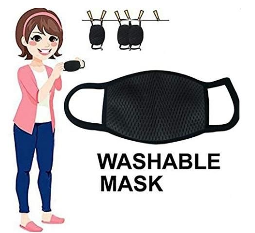 Sanitizer & Face Mask - Washable Face Masks & Sanitizers Combo 2 pcs + 4 pcs