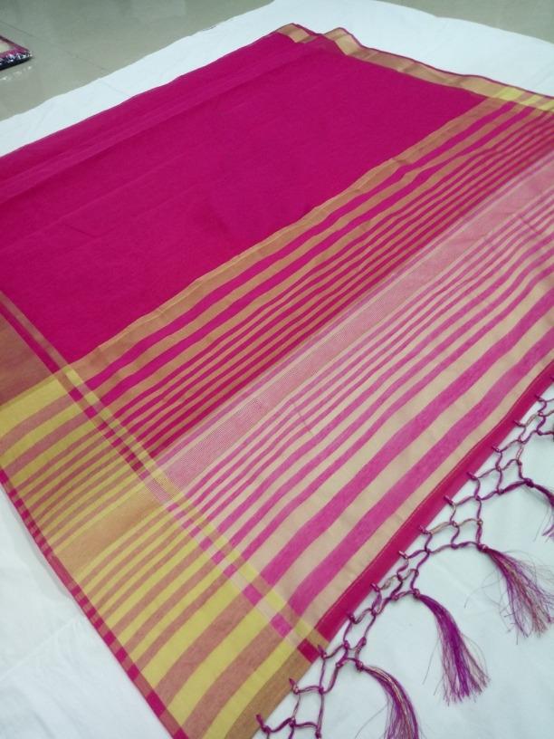 Lady Regular Pretty purple Cotton Silk Woven Saree