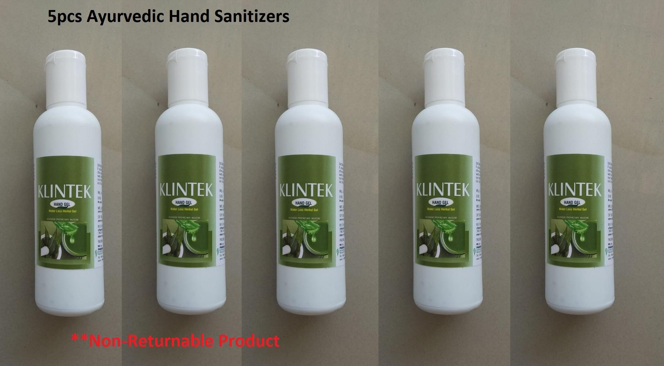 Sanitizer- 100 ml Ayurvedic Hand Sanitizers Pack of 5