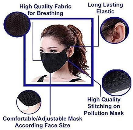 Sanitizer & Face Mask - Washable Face Masks & Sanitizers Combo 2 pcs + 3 pcs