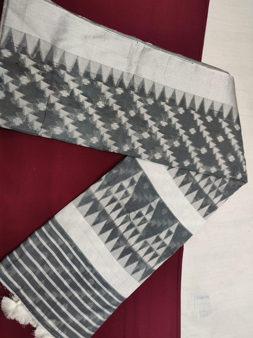 printed chanderi cotton saree