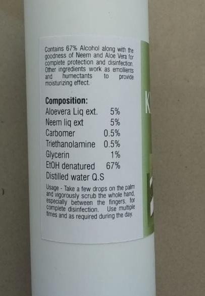 Sanitizer- 100 ml Ayurvedic Hand Sanitizers Pack of 5
