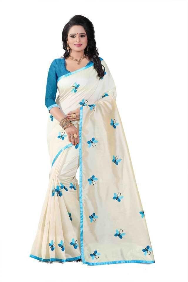 Pretty Sky  Silk Printed Regular Saree