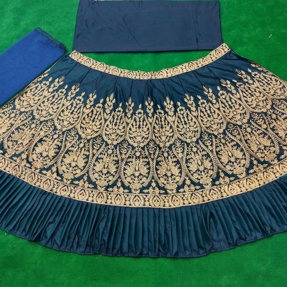 Designer Heavy Japan Taffeta Embroidered Lehenga Choli
