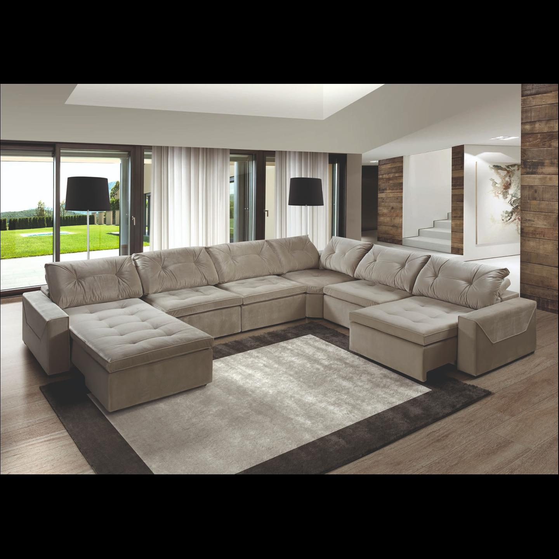 Britto Corner Cum Lounger Sofa (FC41)