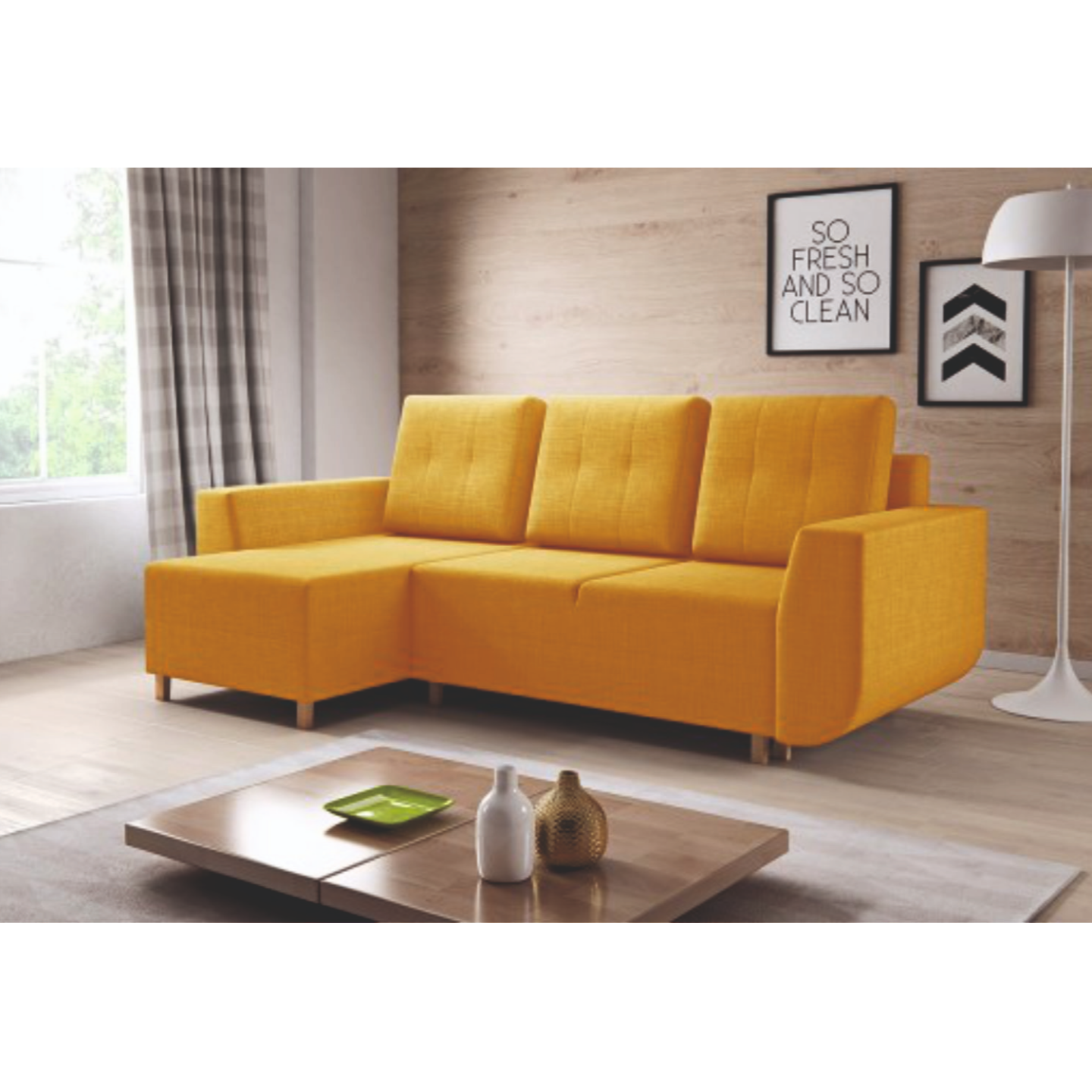 Asaba Right side Lounger Sofa (FC43)