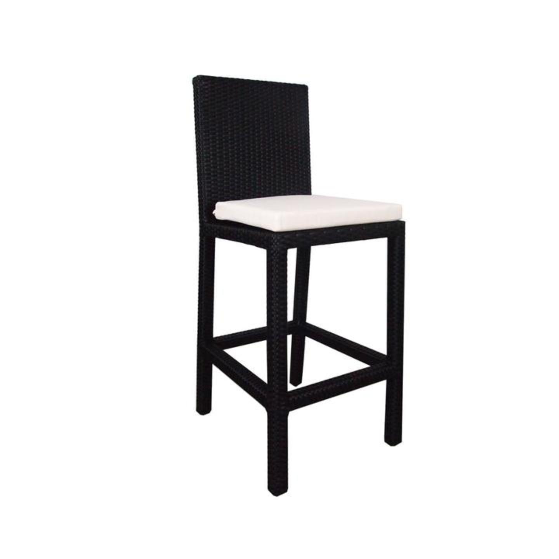 2 Chair Bar Set White Cushion