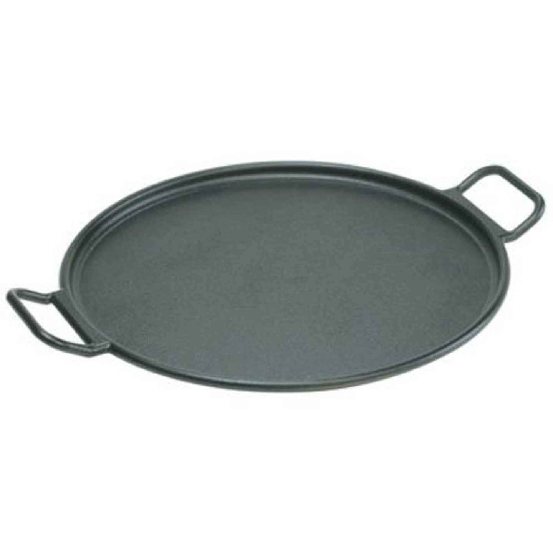 Cast Iron Pizza Pan, Black, 14-inch - Village Factory