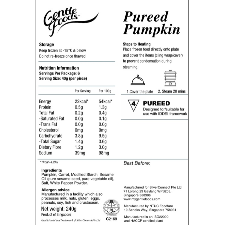 Puréed Pumpkin - 6 pcs