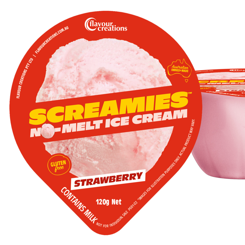 Screamies Strawberry No Melt Ice Cream