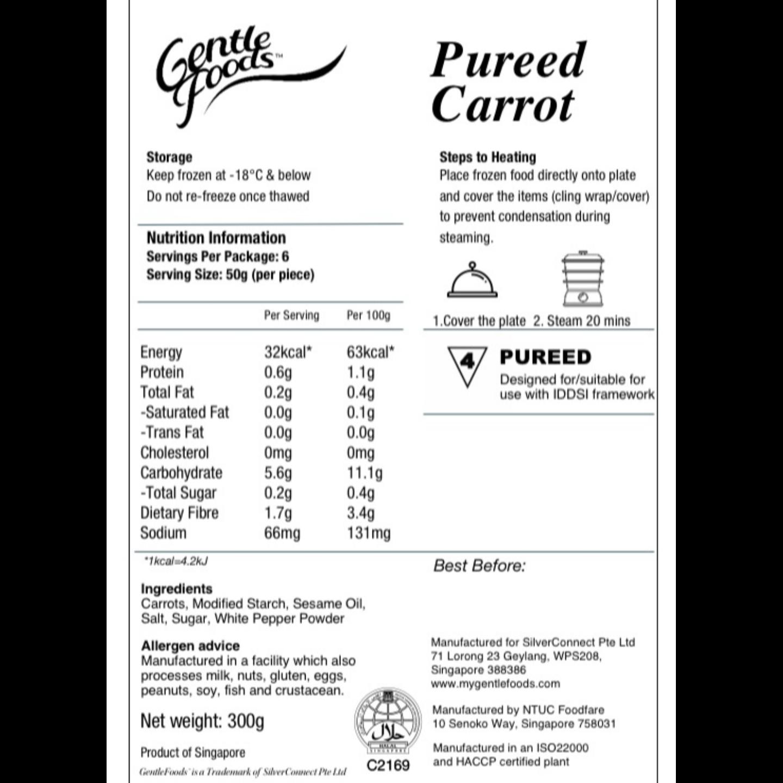 Puréed Carrots - 6 pcs