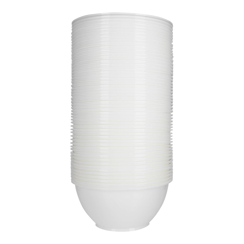 MS W6 White Plastic Bowl 塑料碗白