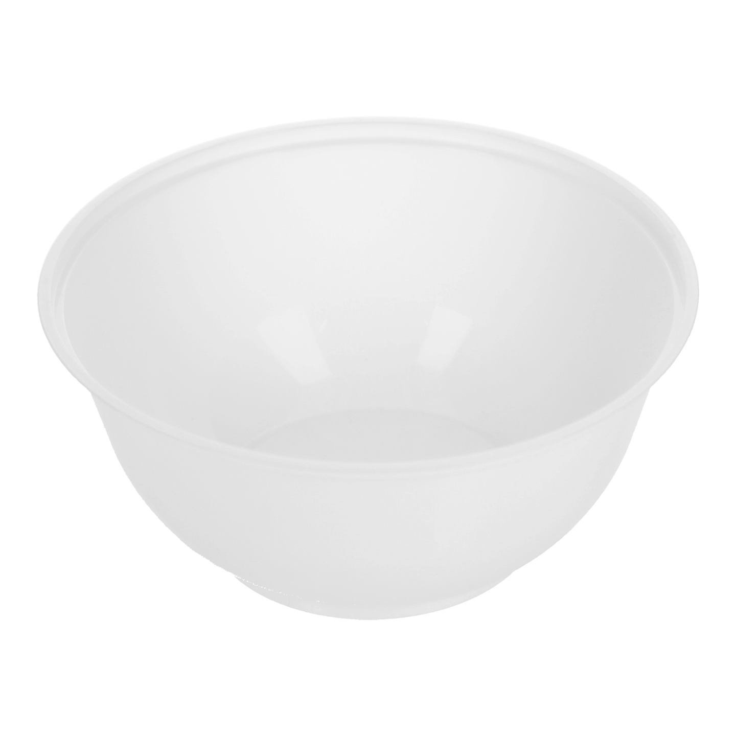MS W5 White Plastic Bowl 塑料碗白