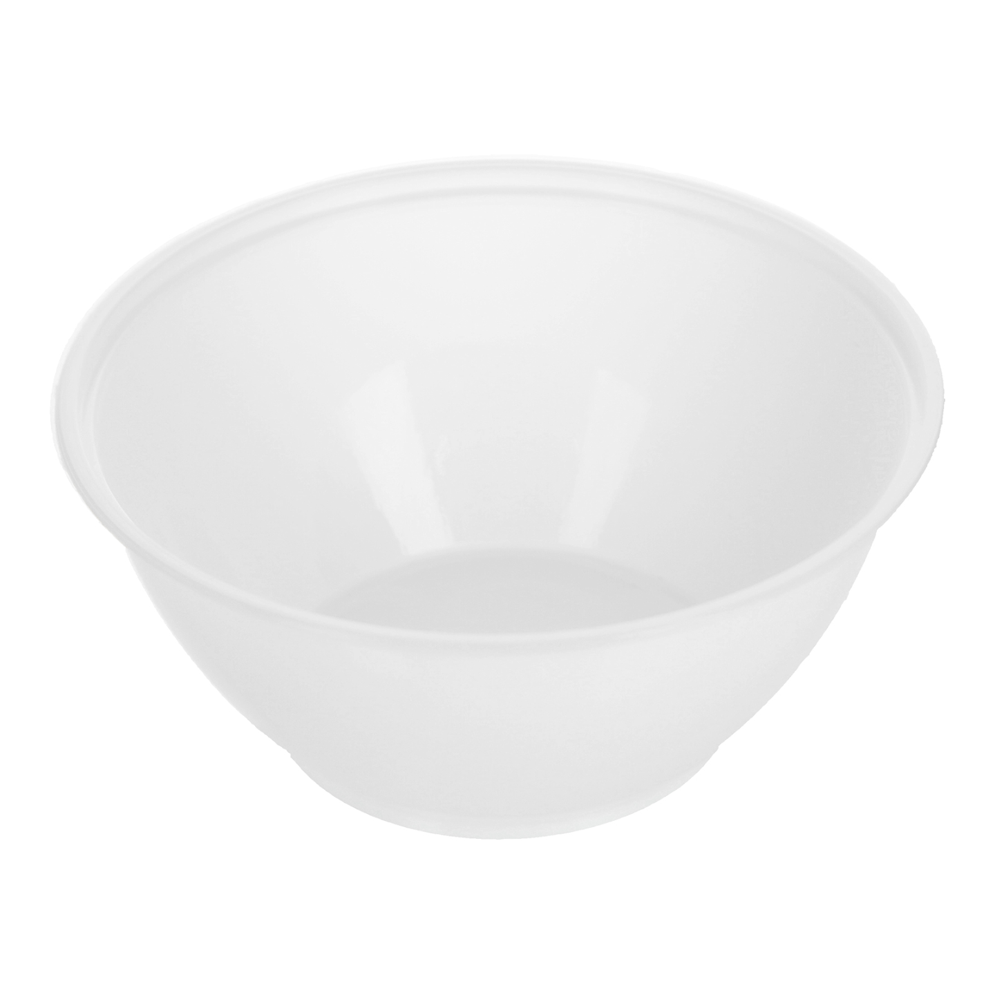 MS W3 White Plastic Bowl 塑料碗白