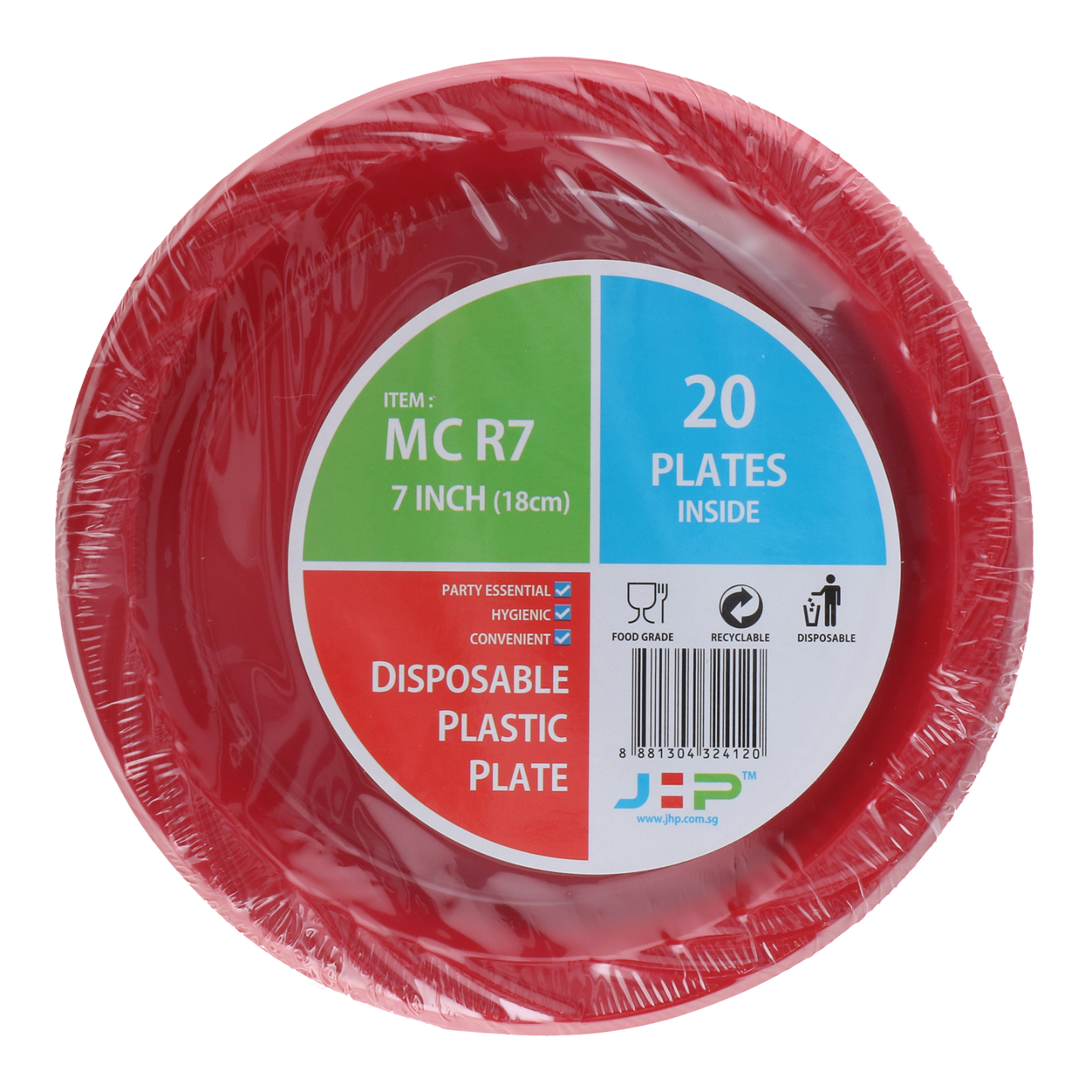 7 MC R7 Red Plastic Plate 红胶盘 Top View