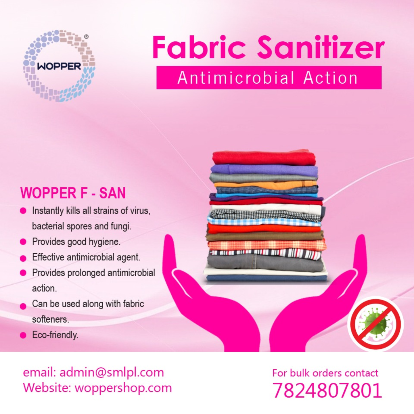 WOPPER F-SAN - Fabric Sanitizer 250 ml