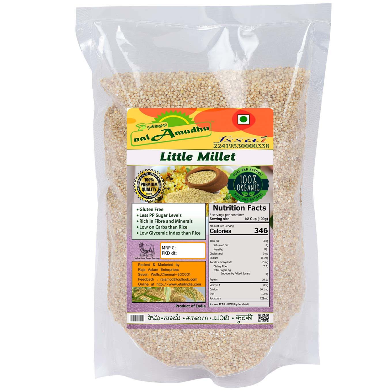 nalAmudhu Organic Little Millet (Samai Saame Kutki Samalu)