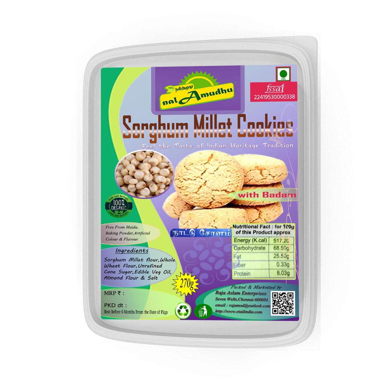 nalAmudhu Organic Sorghum Jowar Millet Cookies