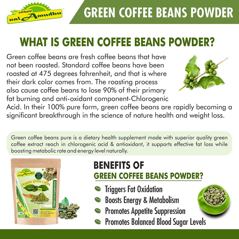 nalAmudhu Organic Unroasted Green Coffee Beans Powder For Weight Loss