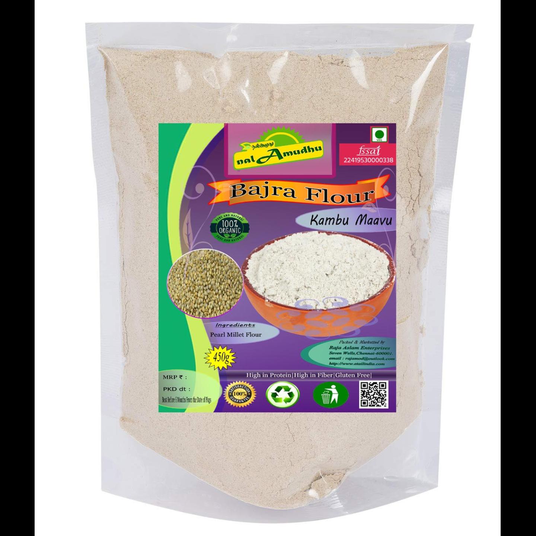 nalAmudhu Organic Pearl Millet Flour | Bajra Atta| Kambu Maavu