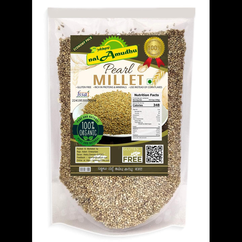nalAmudhu Organic Pearl Millet Bajra | Kambu | Bajri |  Sajje | Sajjalu