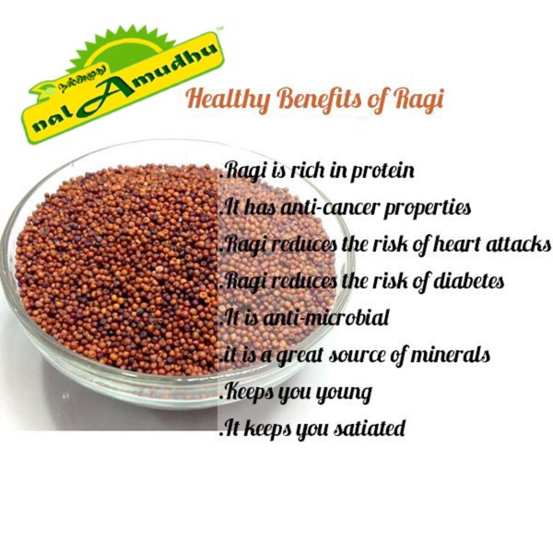 nalAmudhu Organic  Finger Millet Ragi (Nachni Mandua Ragulu Kezhvaragu Kelvaragu)