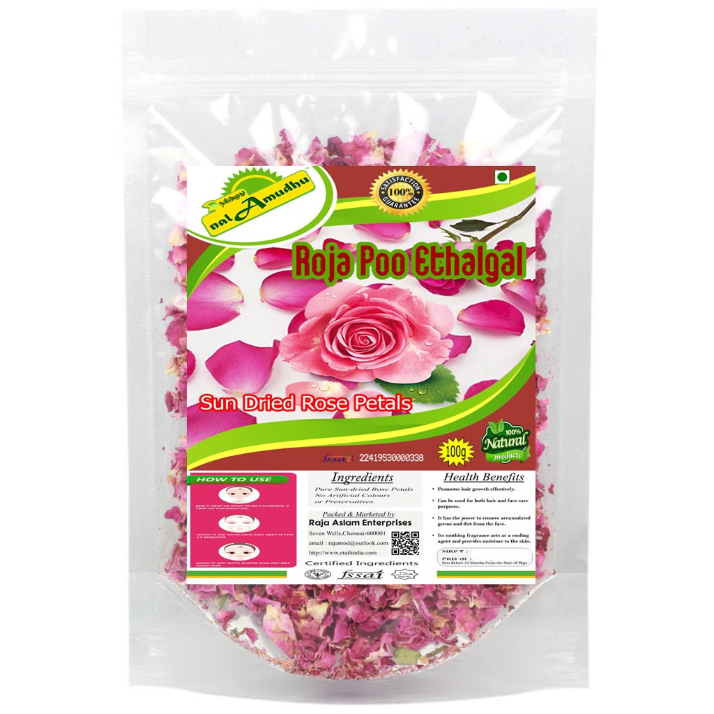 nalAmudhu Premium Edible Grade Rose Petals  Gulab Patti