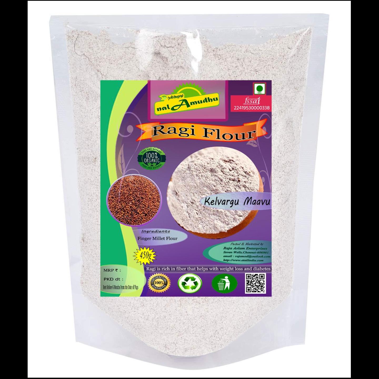 nalAmudhu Organic Fingar Millet Flour | Ragi Atta| Kelvaragu Maavu