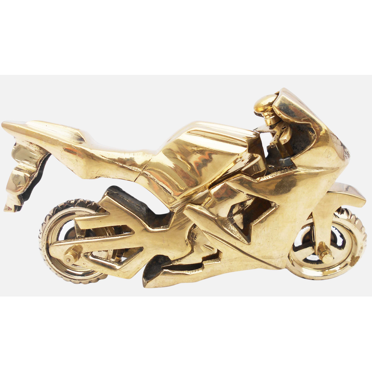 Brass Toy Bike R15 Miniature For Children Playing- 7*2*4 iInch  (Z328 C)
