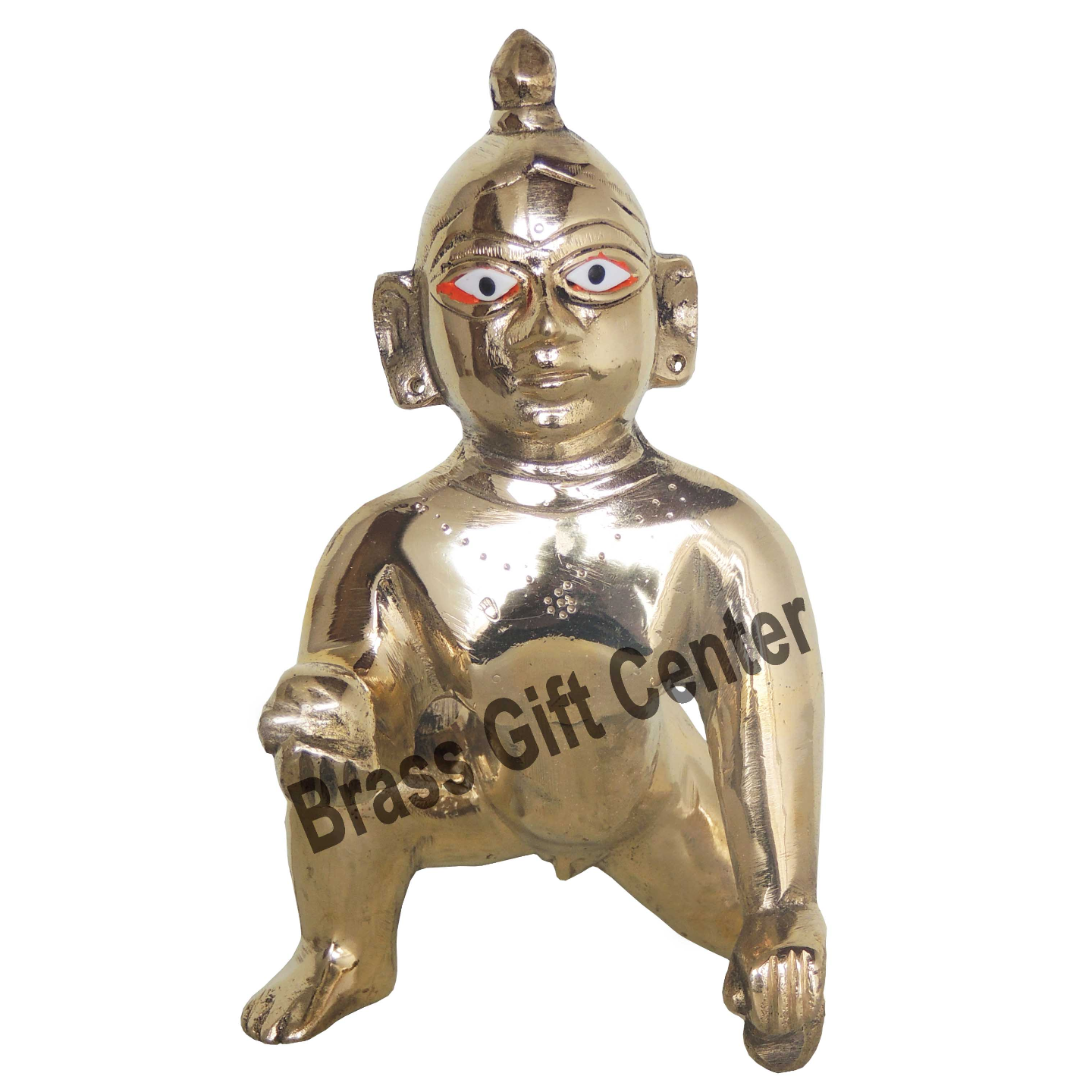 Brass Laddu Gopal God Idol With Brass Finish, Height - 7 Inch (BS871 E)