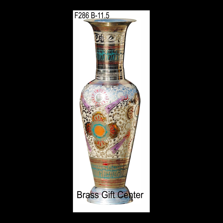 Brass Coloured Flower Vase with handwork - 4411.5 Inch  F286 B