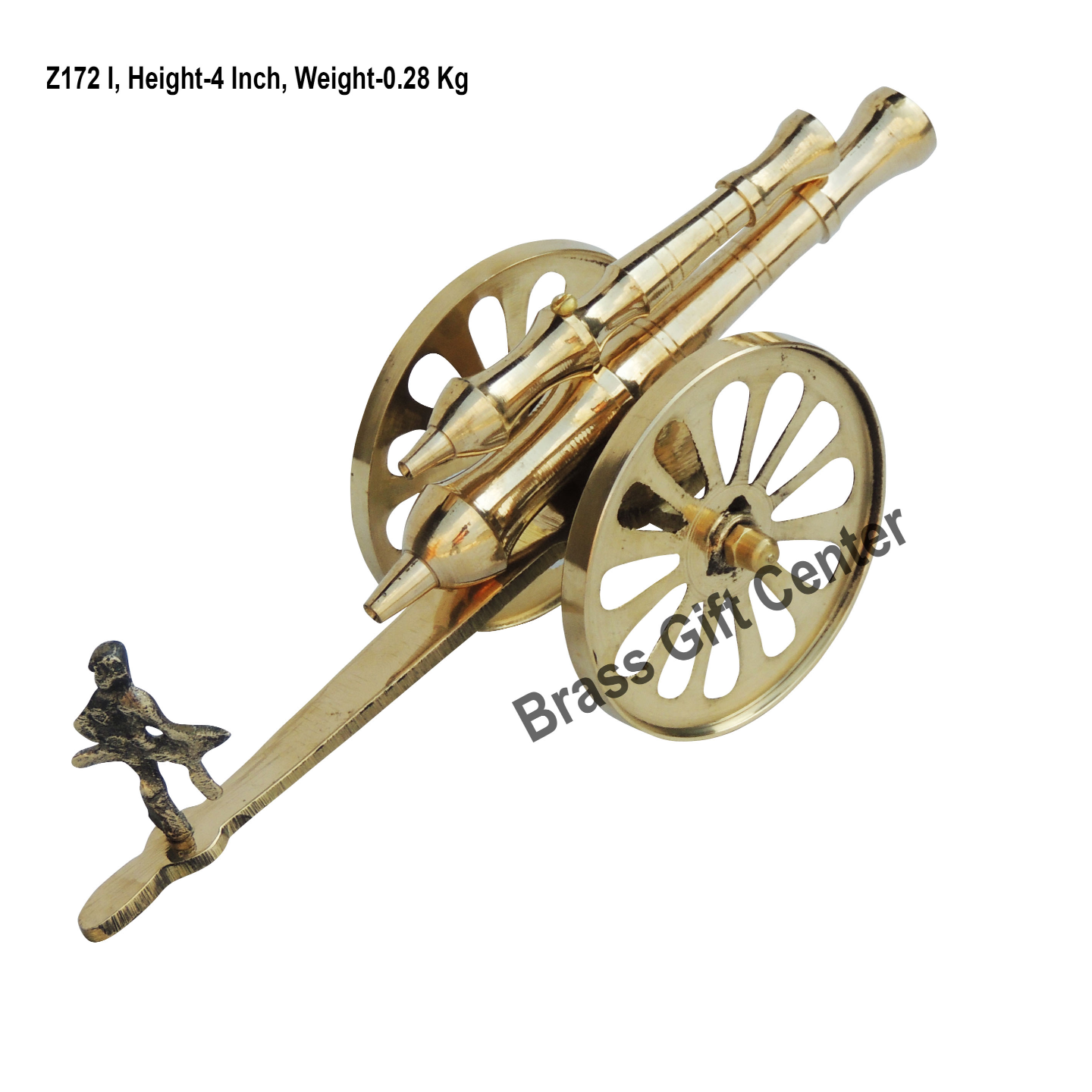 Brass Small Toop Cannon No 10 - 984 inch  Z172 I