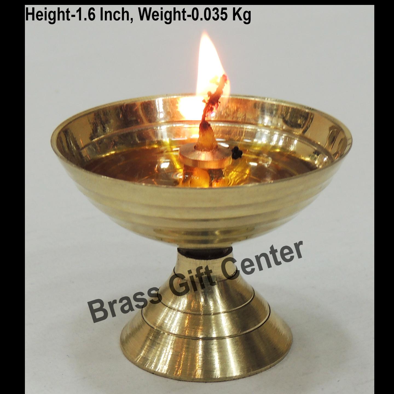 Brass Piyali Deepak Diya - 221.6 inch F645 B