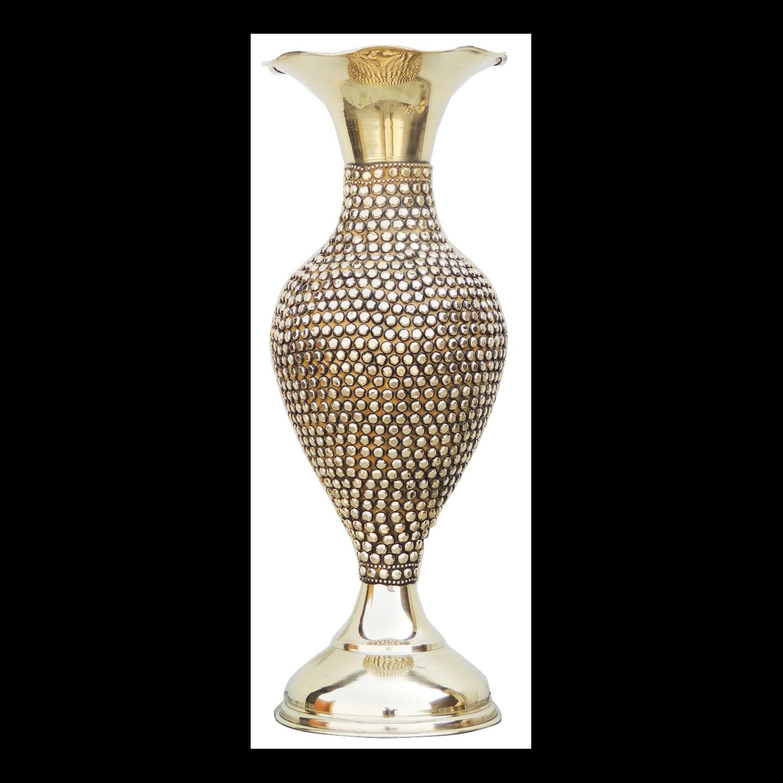 Brass Beads Flower Vase - 5.8*5.8*15.5 Inch (F581 C)