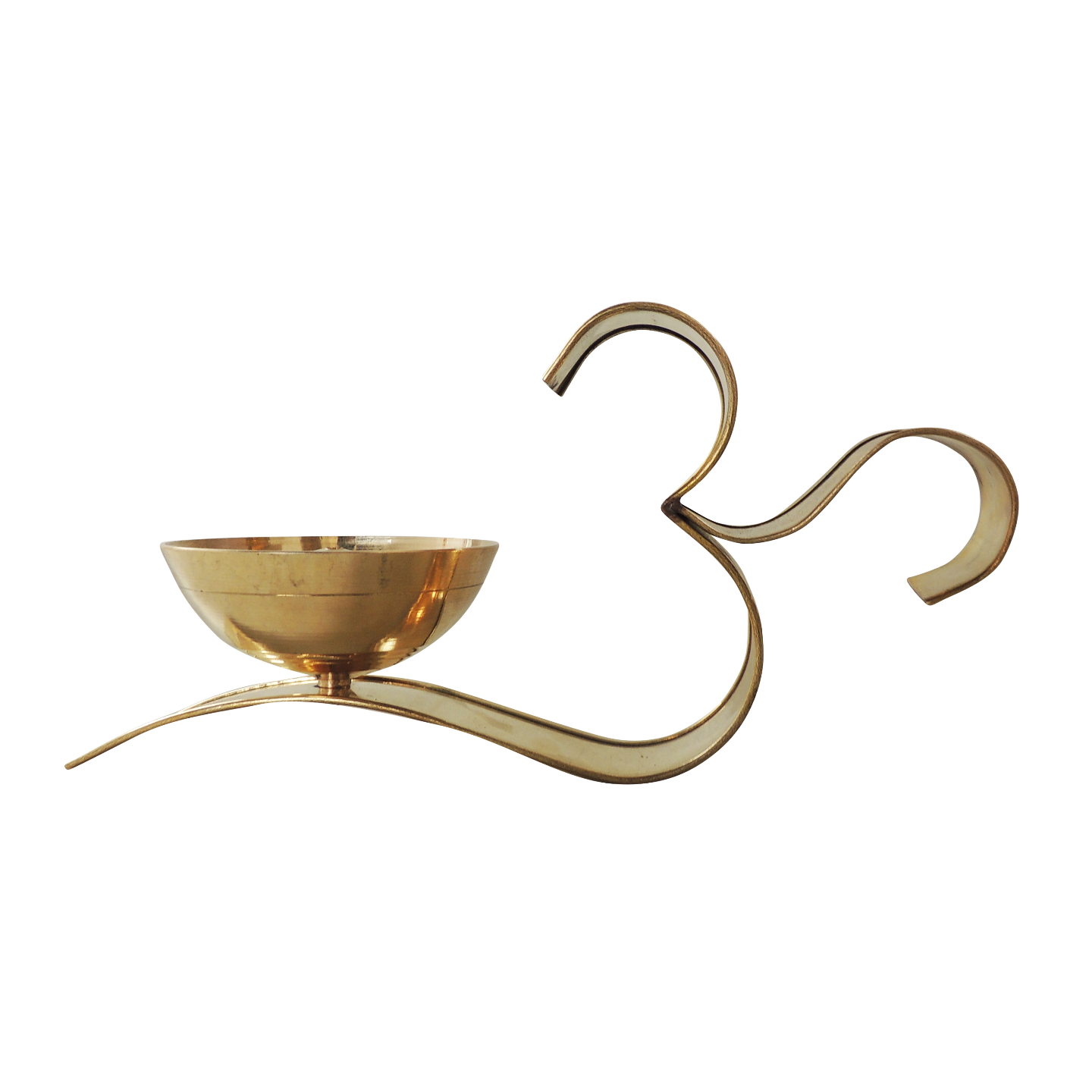 Brass Om With Attached Deepak - 4 Inch, No. 5,  Z489 E