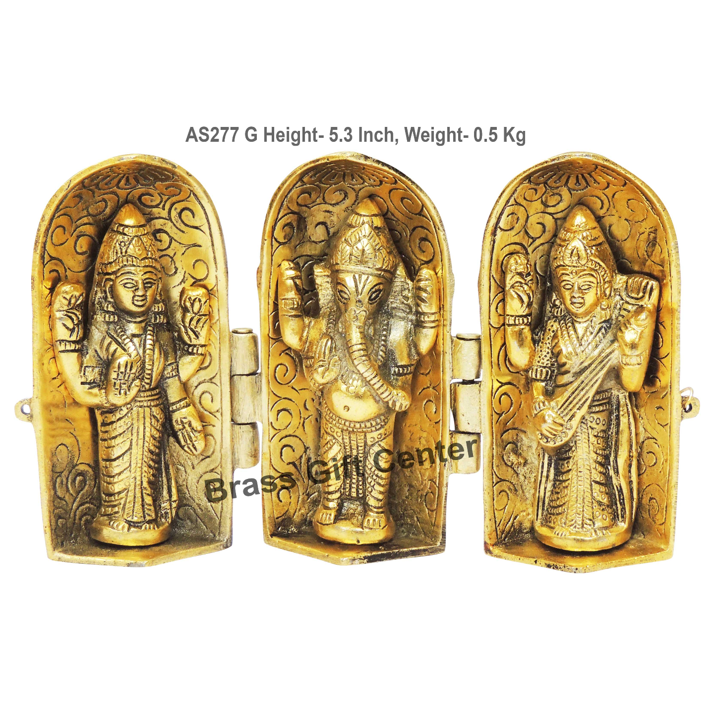 Laxmi Ganesh Saraswati Folding - 8.5*1.5*5.3 Inch  (AS277 G)