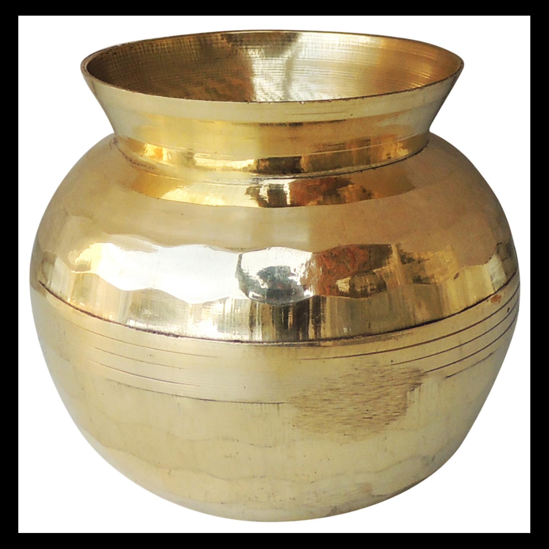 Brass Diamond Shape Lota No. 1, 400 ML (Z481 C)