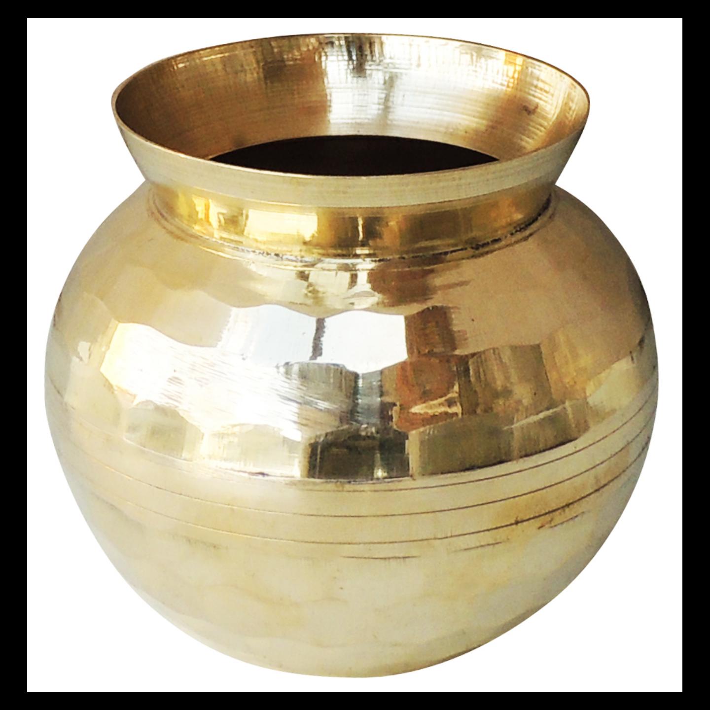Brass Diamond Shape Lota No. 2, 500 ML (Z481 D)