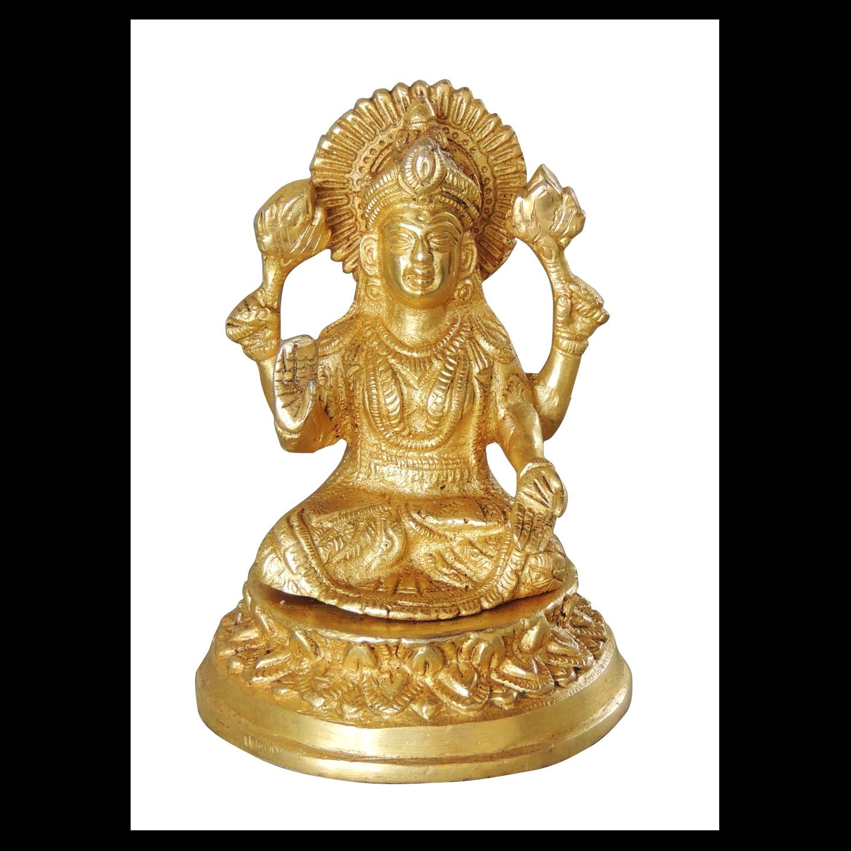Brass Laxmi  Statue/Murti/idol - 5.5 inch (BS1040 L)