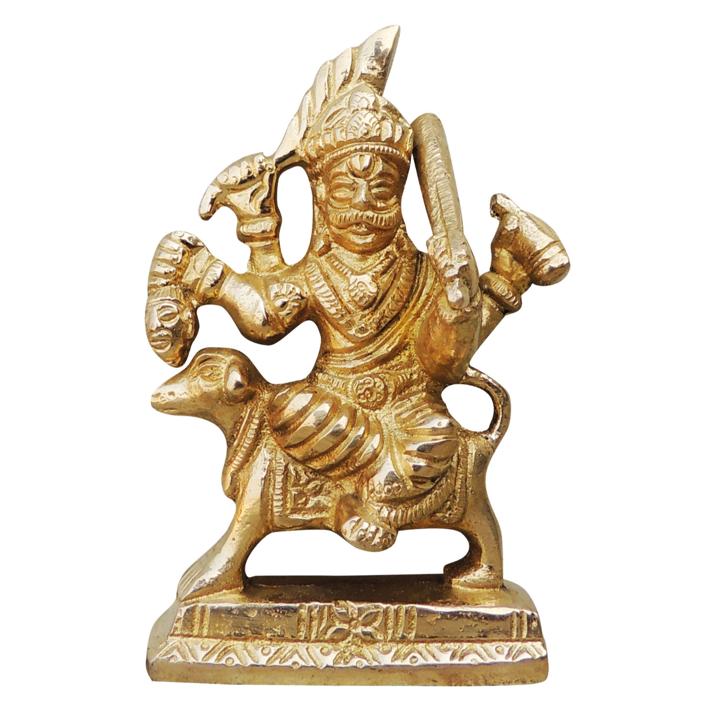 Brass Showpiece Bhairav Baba Ji Statue With Brass Finish Height - 4 Inch (BS955 B)