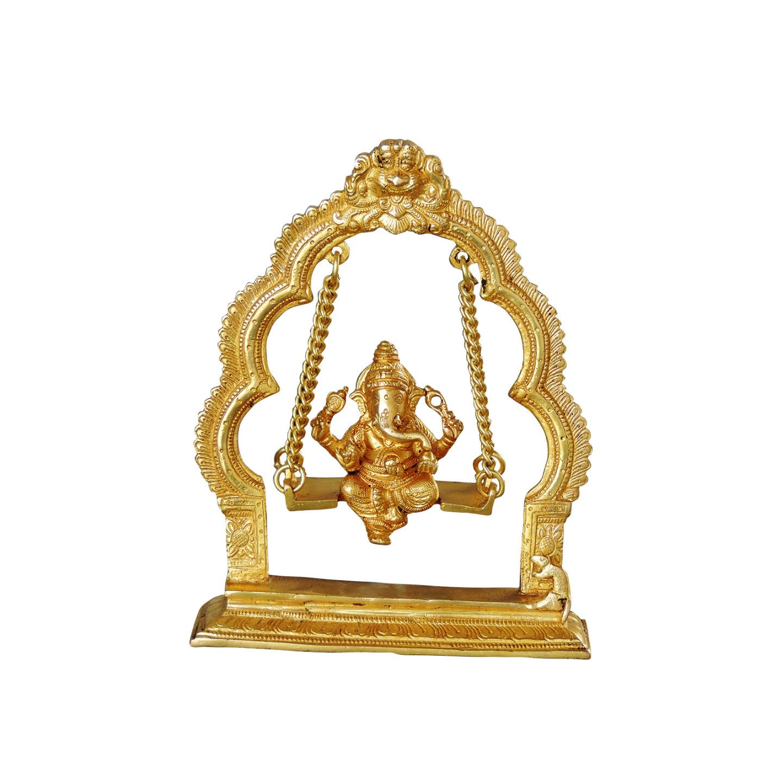 Brass Ganesh Jhula - 7.5*2.2*9.5 inch (BS1038 C)
