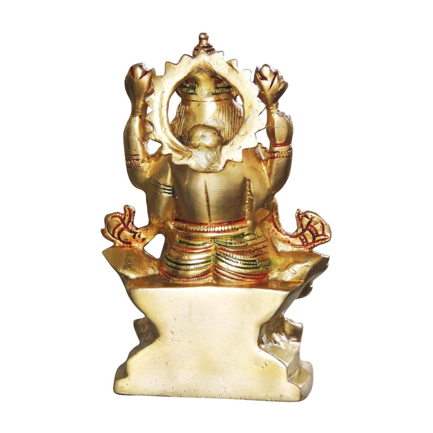 Brass Laxmi Statue Murti Idol in MultiColour Lacuquer Finish - 6.2 inch (BS1064 L)
