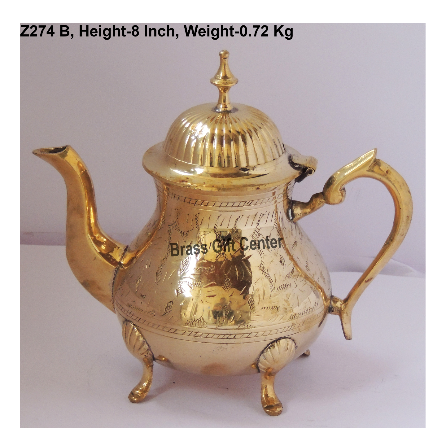 Brass Tea Pot Kettle 650 Ml -  8*5*8 Inch  (Z274 B)