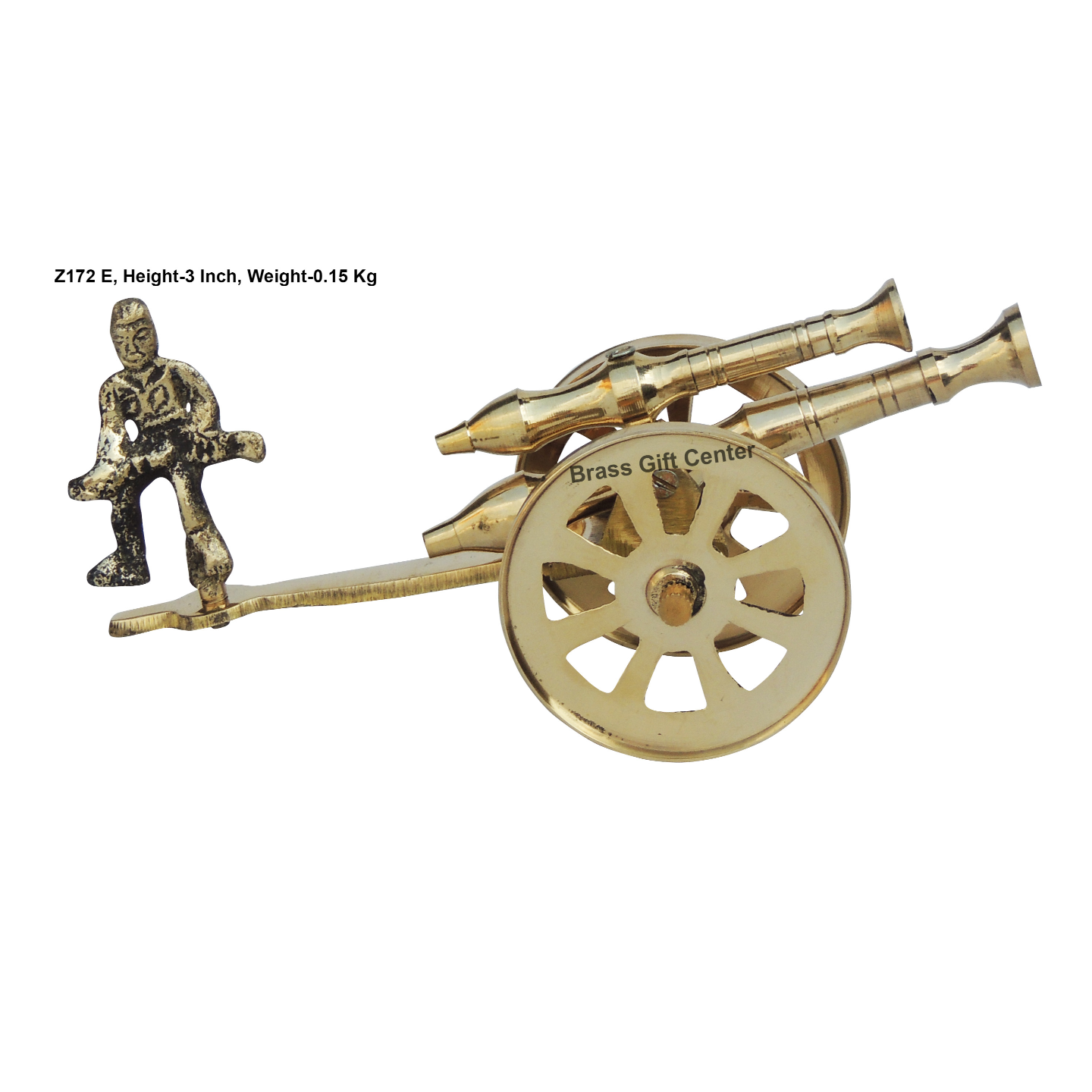 Brass Small Toop Cannon No. 7 - 6.52.33 Inch  Z172 E