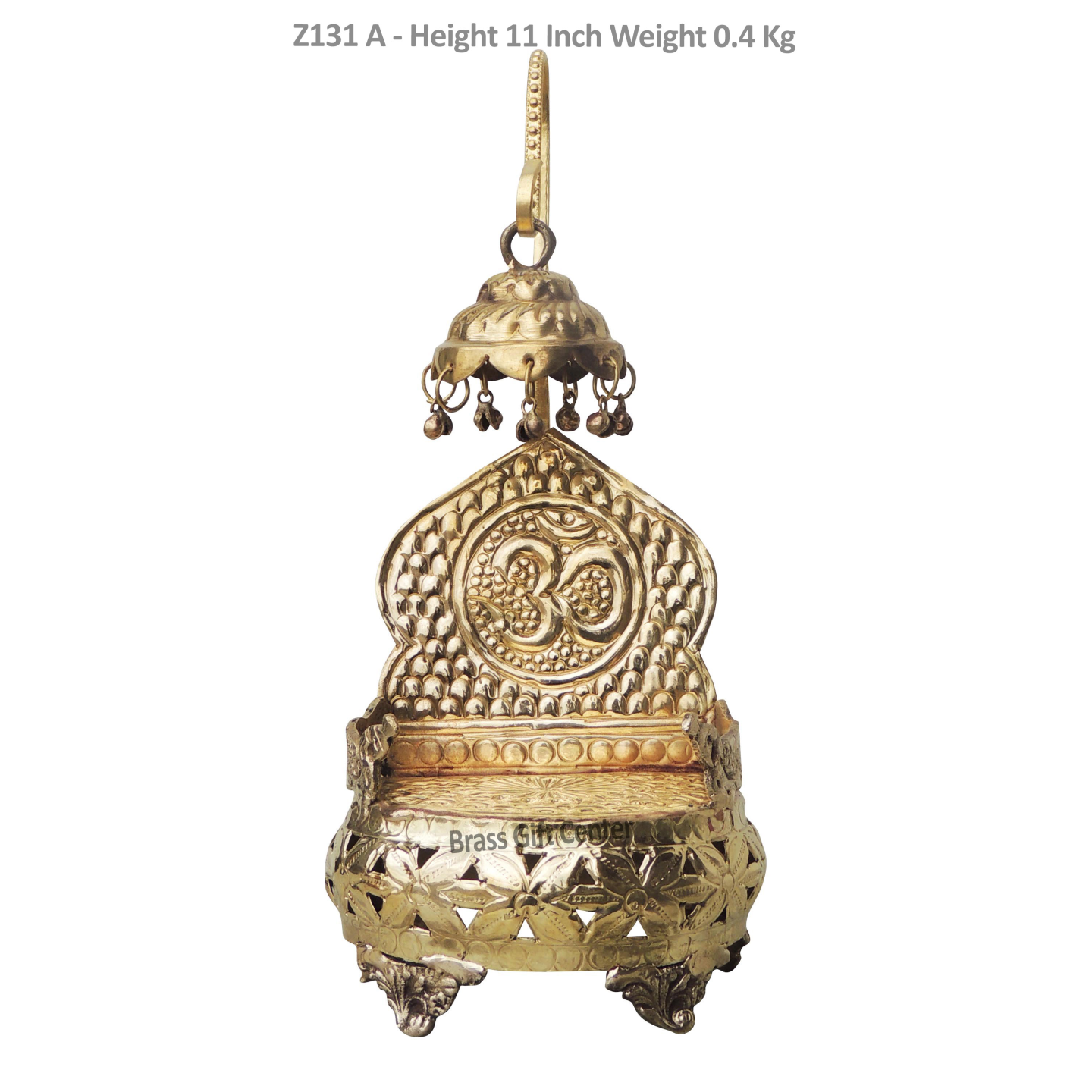 Brass Singhasan For God Idol With Brass Finish Height - 11 Inch (Z131 A)